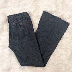 Zara Basic Denim Wide Leg Dress Pants Size 6